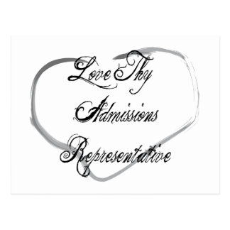 Love Thy Admissions Representative Post Card