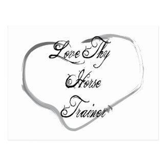 Love Thy Horse Trainer Postcard