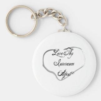 Love Thy Insurance Agent Key Ring