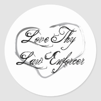 Love Thy Law Enforcer Sticker