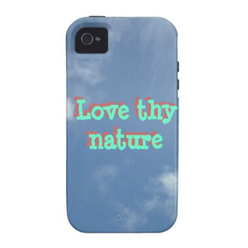 Love thy nature iPhone Case clouds Case-Mate iPhone 4 Covers