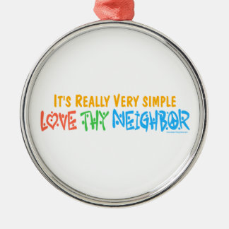 Love Thy Neighbor Christmas Ornament