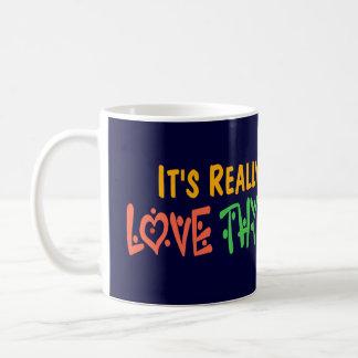 Love Thy Neighbor - Heart, Peace Sign Coffee Mugs