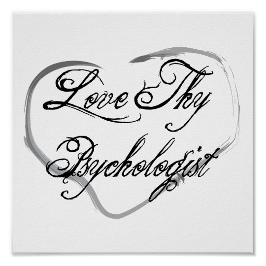Love Thy Psychologist Poster