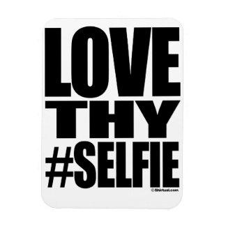 LOVE THY SELFIE RECTANGLE MAGNET