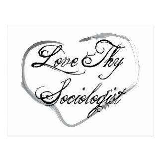 Love Thy Sociologist Postcard