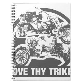 love thy trike - motorcycle spiral notebook