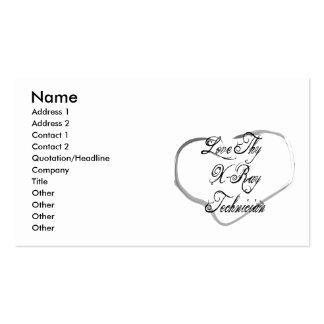 Love Thy X-Ray Technician Business Card