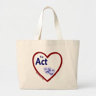 Love to Act Jumbo Tote Bag