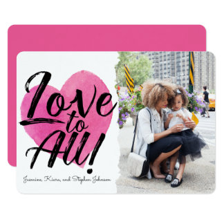 Love to All | Family Photo Valentine Card