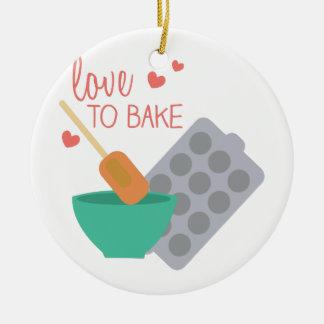 Love To Bake Christmas Ornament