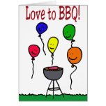 Love to BBQ Greeting Cards