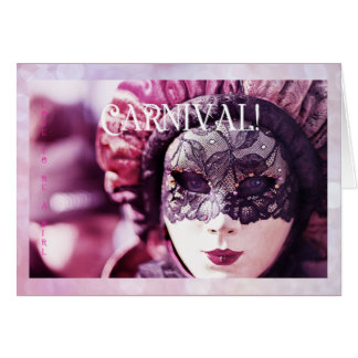 Love to be a girl postcard: Carnival Card