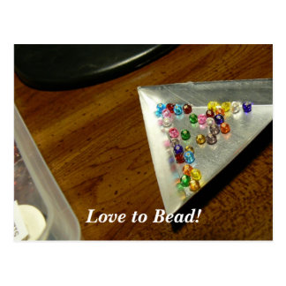 Love to Bead! Postcard