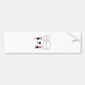 Love To Bowl Bumper Sticker