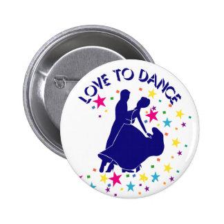 Love to dance 6 cm round badge