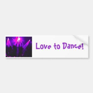 Love to Dance bumper sticker w/Dance Party logo