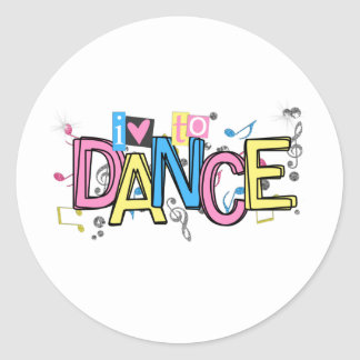 Love to Dance Classic Round Sticker