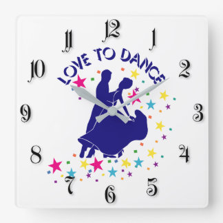 Love to dance clock