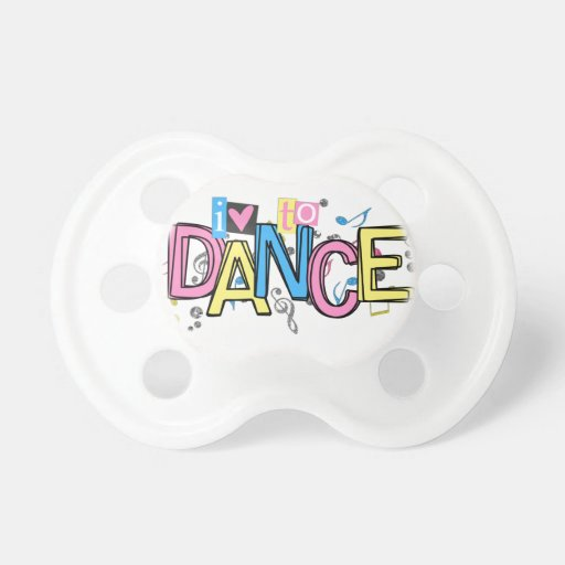 Love to Dance Baby Pacifiers
