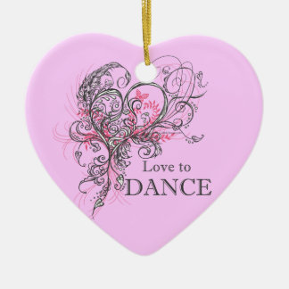 Love to Dance Heart Ornament