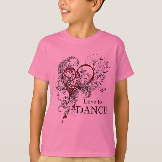 Love to Dance Kids T-shirt (customisable)