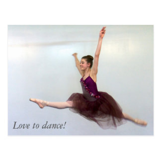 Love to dance! postcard
