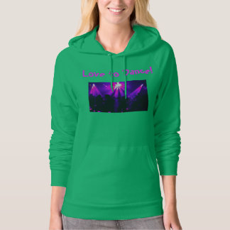Love to Dance pullover hoodie w/Dance Party logo