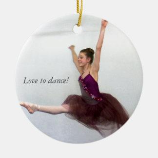 Love to dance! round ceramic decoration