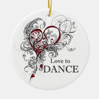 Love to Dance Round Ornament
