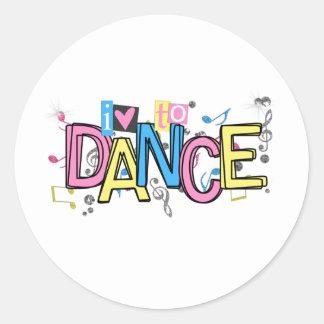 Love to Dance Round Sticker