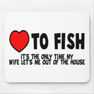 Love To Fish Mouse Pad