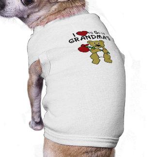 Love to Go to Grandma's Sleeveless Dog Shirt