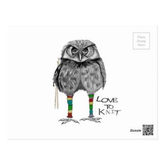 Love to knit postcard