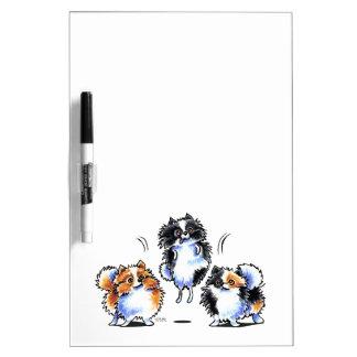 Love to Parti Pomeranians Dry Erase Board