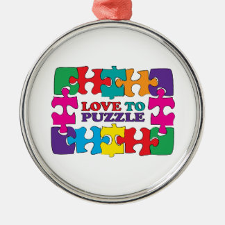 Love To Puzzle Christmas Ornament