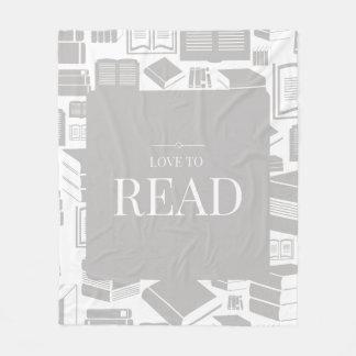 Love To Read Fleece Blanket