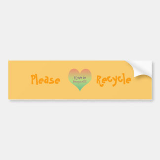 Love to Recycle Car Bumper Sticker