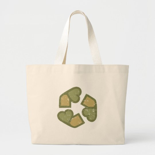 Love to recycle large tote bag