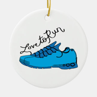 Love to Run Christmas Ornament
