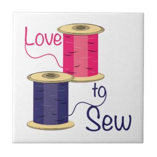 Love To Sew Ceramic Tiles