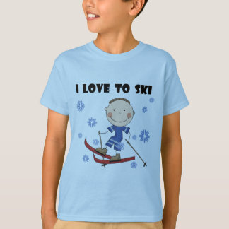 Love to Ski - Boy Tshirts and Gifts