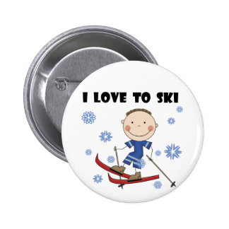 Love to Ski - Boy Tshirts and Gifts 6 Cm Round Badge