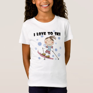 Love to Ski - Girl Tshirts and Gifts