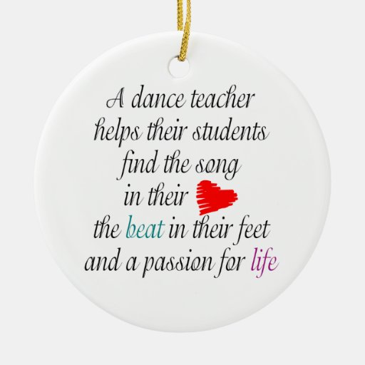 Love to Teach Dance One-Sided Ornament