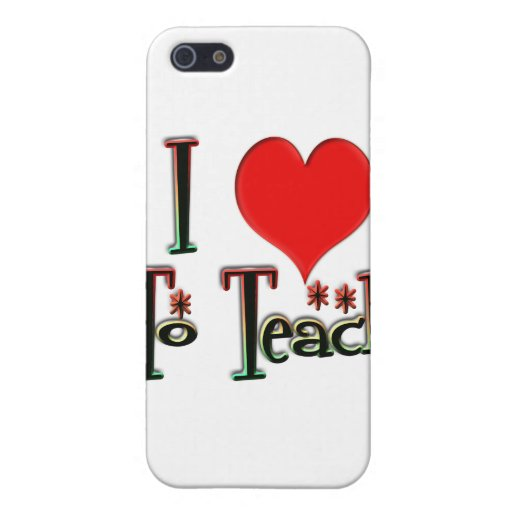 Love To Teach iPhone 5 Cover