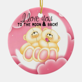 love to the moon and back christmas ornament
