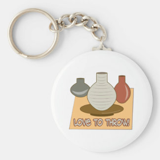 Love To Throw Key Ring