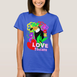 Love Toucans Cute Tropical Animal Colorful Trendy T-Shirt