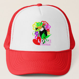 Love Toucans Cute Tropical Animal Colorful Trendy Trucker Hat